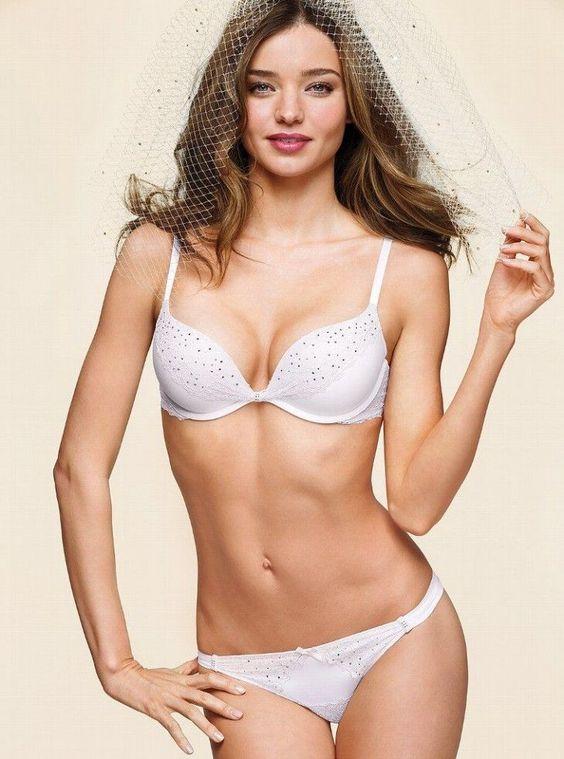 Miranda Kerr – hot VS bridal lingerie pics
