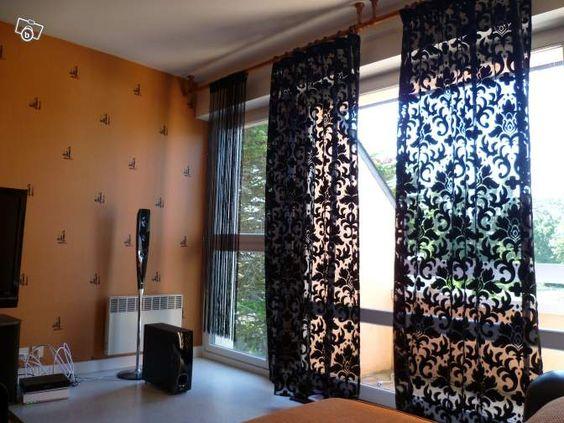 deux rideaux haut de gamme heytens a saisir d coration ille et vilaine curtains. Black Bedroom Furniture Sets. Home Design Ideas