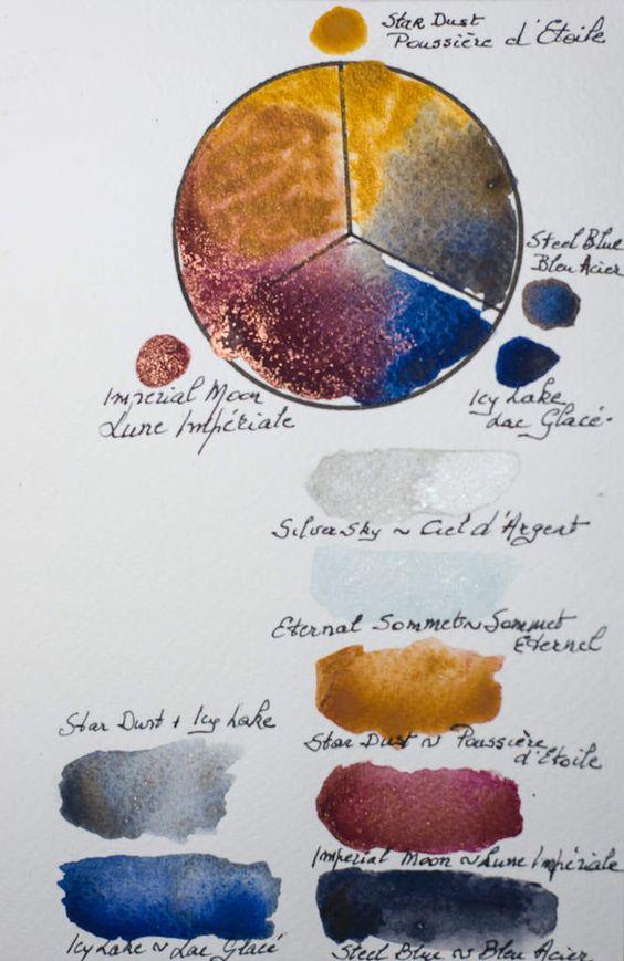 Laquarellededesire6 Colors In Isaro Metallic Colors Limited Set