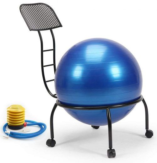 Live Up Balance Ball Posture Chair Exercise Yoga Ball Chair Metal Frame With Wheels For Home And Office Ball Chair Office Ball Chair Metal Chairs
