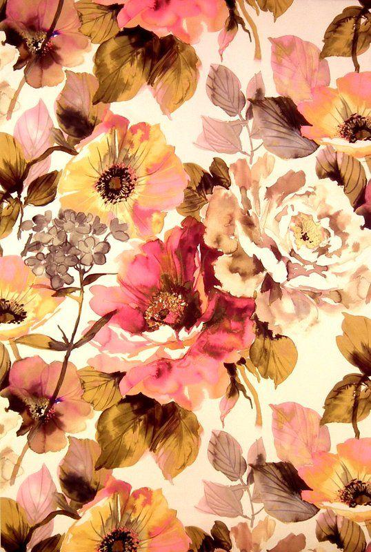Soft floral jardin fabric art soul fabric collection for Jardin floral design