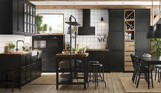 Küchen Mit Dunkelbraunen Schränken Küchenfronten Küchentüren ...