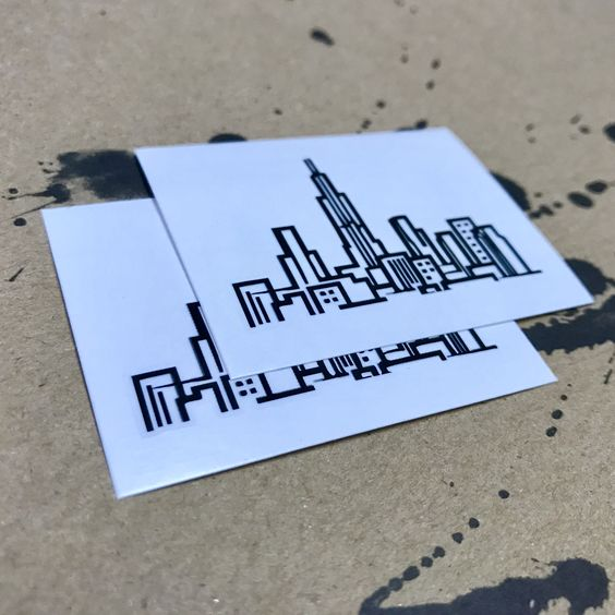 Skyline Temporary Tattoo