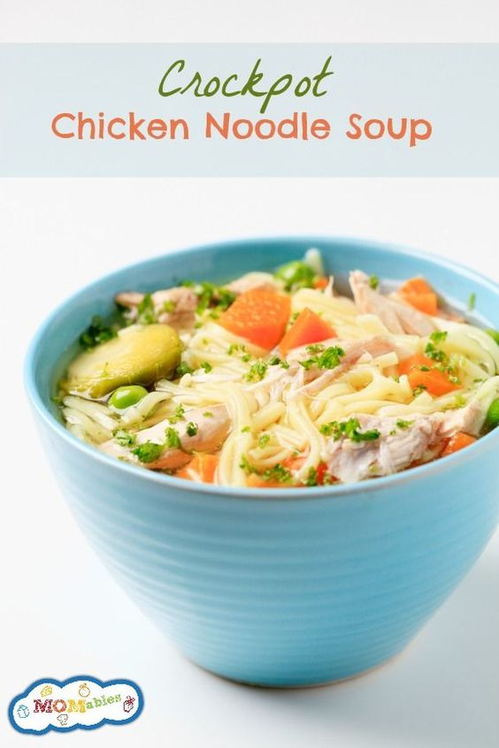 Easy crockpot chicken noodle soup recipe noodle soups for Easy tasty soup recipes