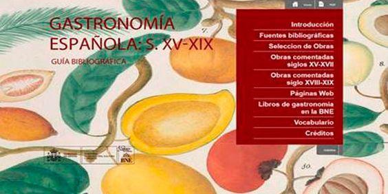 Resultado de imagen de Guía Bibliográfica de la Gastronomía Española