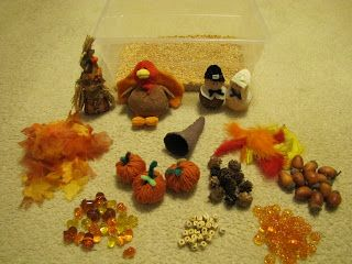 H is for Homeschooling: Thanksgiving Sensory Bin