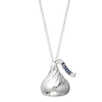 Small 3D Hershey's Kiss Pendant includes an 18 inches with 2 inch extension Rolo chain with Lobster claw.
