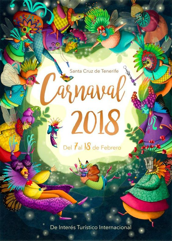 Cartel Carnaval Santa Cruz de Tenerife Año 2018 Titulo: LA GUARDIA DEL CETRO Autor: Nareme Melián Mahugo