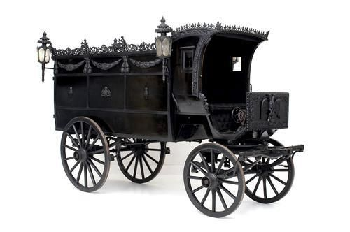 Royal 19th Century hearse. Schonbrunn Palace, Vienna