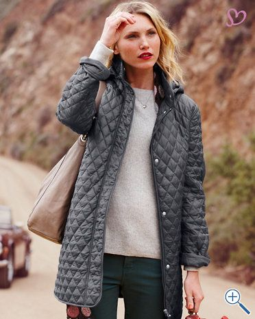 Quilted Car Coat...mmm, yes please! | wardrobe. | Pinterest ...