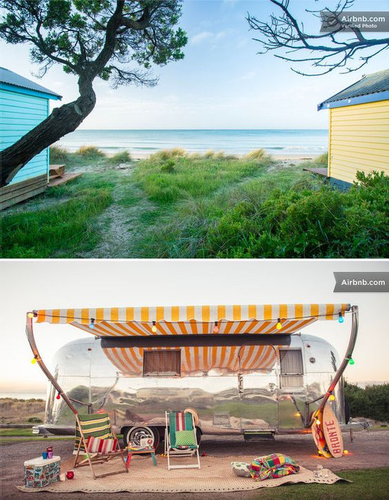 Airstream on the beach, Mornington Peninsula, VIC | 25 Australian Airbnb Destinations You Have To See To Believe