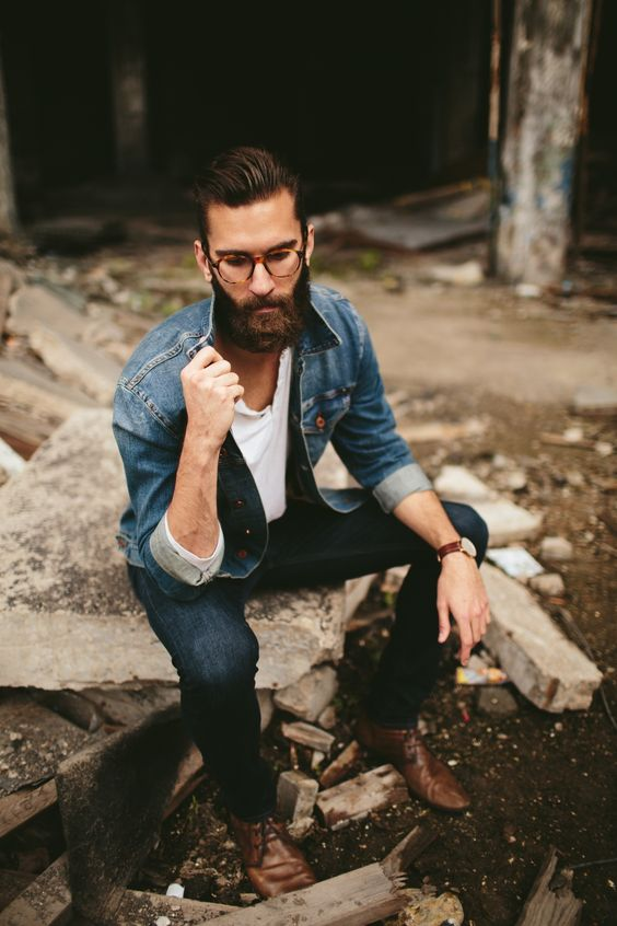Janelle Putrich Photography . mens fashion . street style . classy . beard . hipster .