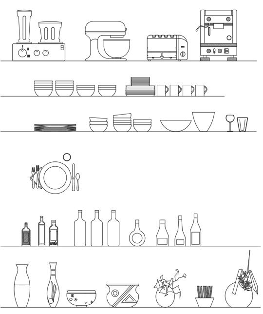 Accessori Per La Cucina Dwg Kitchen Accessories Autocad