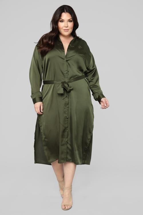 plus-size | Satin shirt, Satin shirt dress, Long sleeve shirt dress