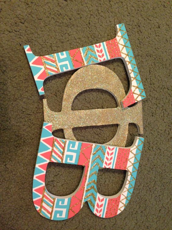 Letters I painted for my little! Gamma Phi Beta