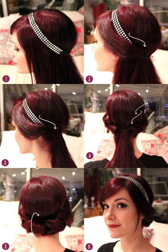 U super tuto avec un headband dor tutorial hair pinterest coup belle et tasses - Coiffure pour grosse ...
