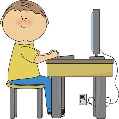 Working at Desk Clip Art
