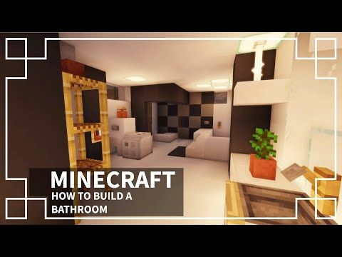 Minecraft How To Make A Bathroom Youtube In 2020 Minecraft Bathroom Minecraft Projects