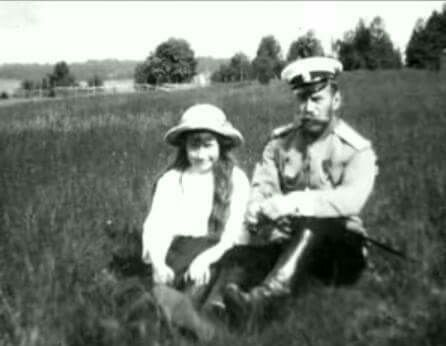 "Tsar Nicholas ll of Russia with his youngest daughter;the Grand Duchess Anastasia Nikolaevna Romanova of Russia. ""AL"""