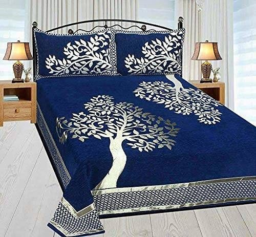 Link In Descriptionchenille Double Bedsheet With 2 Pillow Covers