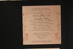 Square 1 layer, flat metallic wedding invitation from www.thepaperbride.ca