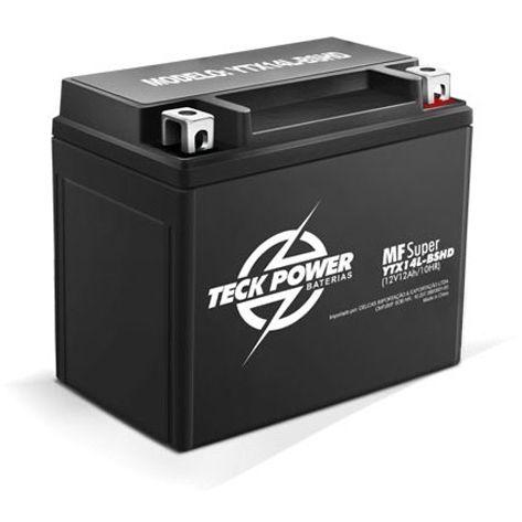 Bateria de GEL Selada Harley Davidson XL1200 / XLH1200 YTX14L-BSHD Alto Desempenho - Teck Power - Masada Moto