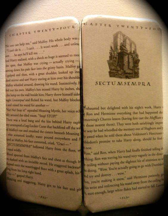 Harry Potter Book Pages ~ Harry potter wallet book page framed clasp clutch