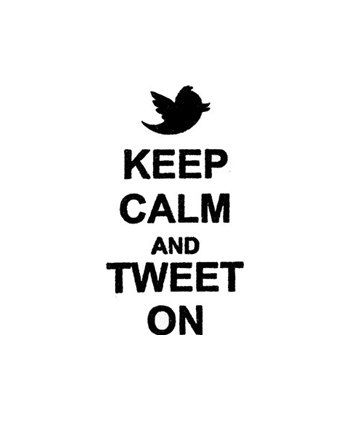 Keep Calm and tweet on Rubber Stamp twitter by terbearco on Etsy, $8.99