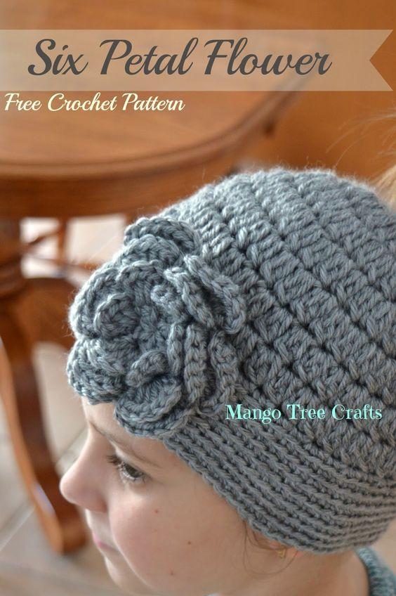 Six Petal Flower Crochet Pattern by Mango Tree Crafts