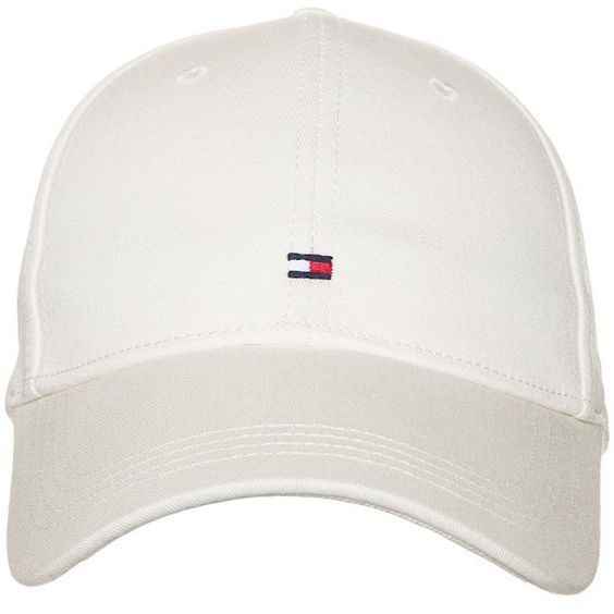 Tommy Hilfiger CLASSIC ❤ liked on Polyvore featuring accessories, hats, tommy hilfiger hats, tommy hilfiger cap, tommy hilfiger, white hat and cap hats
