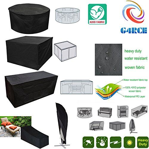 G4rce Garden Patio Furniture Set Cover Waterproof Covers Rattan Round Table Cube S Outdoor Patio Furniture Cover Patio Furniture Covers Garden Patio Furniture