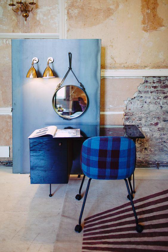 #Clerkenwell Design Week #2015 #blue #working space #tartan