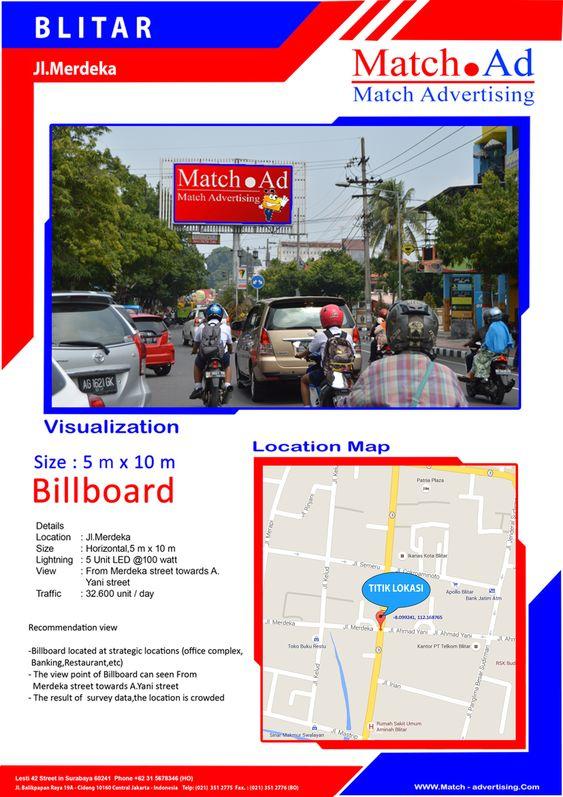 Blitar, Jl. Merdeka - Billboard 5x10
