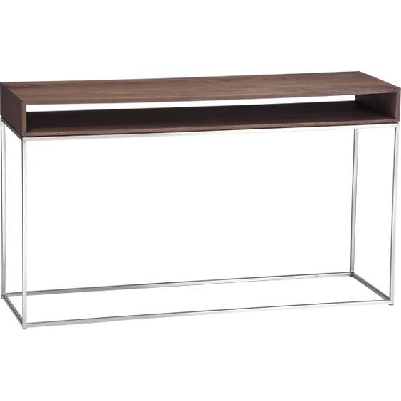 "frame console table $599 | crate and barrel (51.25""w x 15.75""d x 29.75""h)"