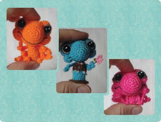(4) Name: 'Crocheting : PeggyToads Miniature Frogs & Gift Box