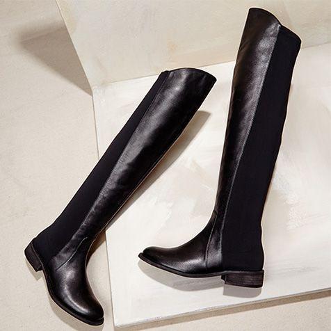 Nice tall black boot.