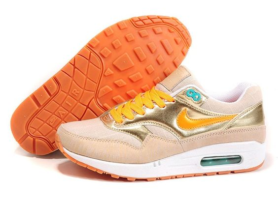 nike air max 1 87 womens running shoes gold