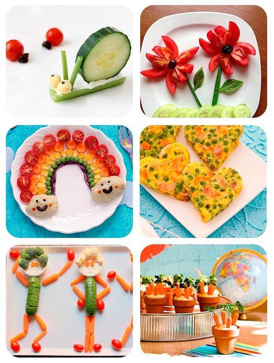 Recetas de verduras. Recetas divertidas para niños. Cenas para niños: