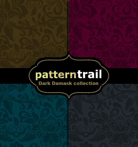 PU | Free – Dark Damask collection by Pattern Trail