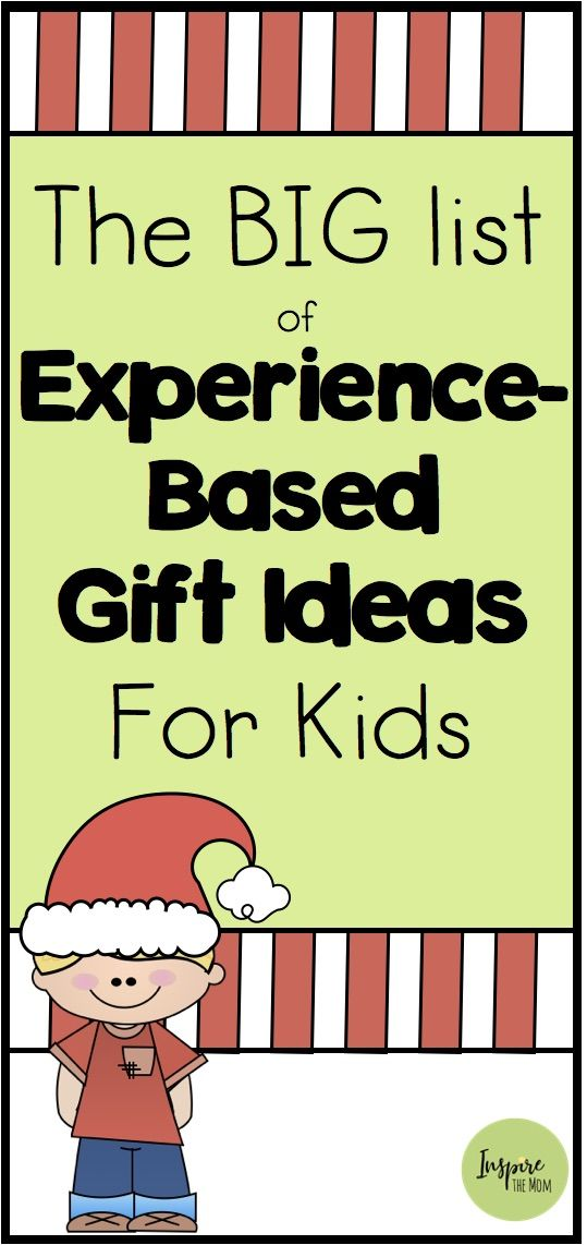 Experience Based Gift Ideas For Kids Christmas Experiences Christmas Gift Alternatives Experience Gifts