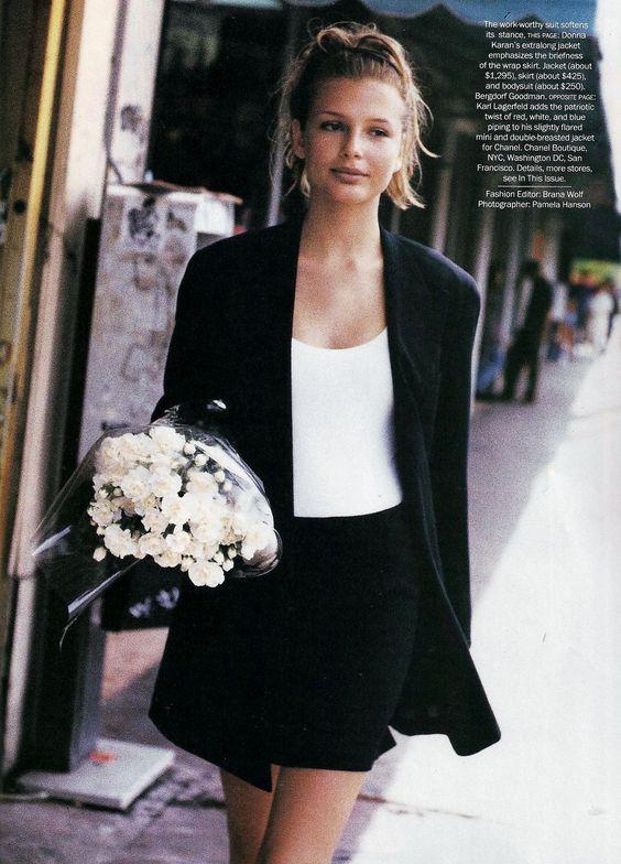 Bridget Hall & Niki Taylor | Photography by Pamela Hanson | For Vogue Magazine US | February 1994