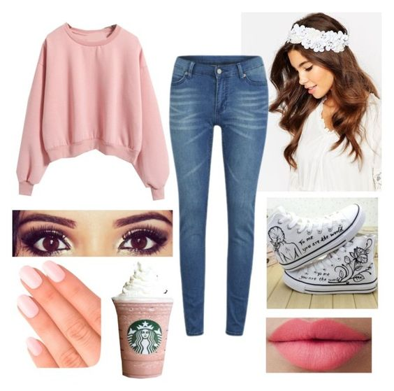 """""""Untitled #28"""" by m0v13-l0v3r ❤ liked on Polyvore featuring moda, ASOS, HVBAO, Cheap Monday, LORAC e Elegant Touch"""