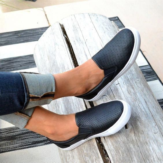 Used Women S Shoes Ebay Uk Sizeewomensshoes Product Id 7583114363 Slip On Sneakers Black Slip On Sneakers Outfit Casual Shoes Women
