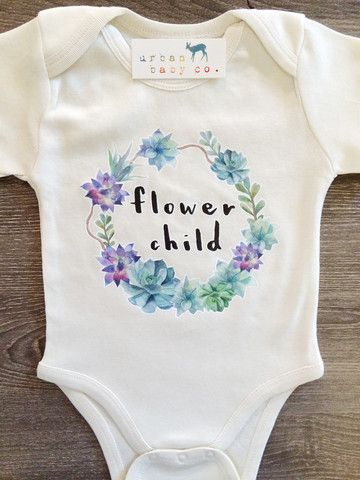 White Flower Child, Boho, Hippie, Floral, Baby, Girl, Infant, Toddler, – Urban Baby Co.