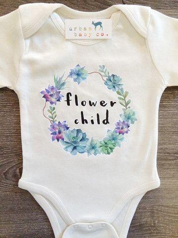 White Flower Child, Boho, Hippie, Floral, Baby, Girl, Infant, Toddler, – Urban Baby Co.