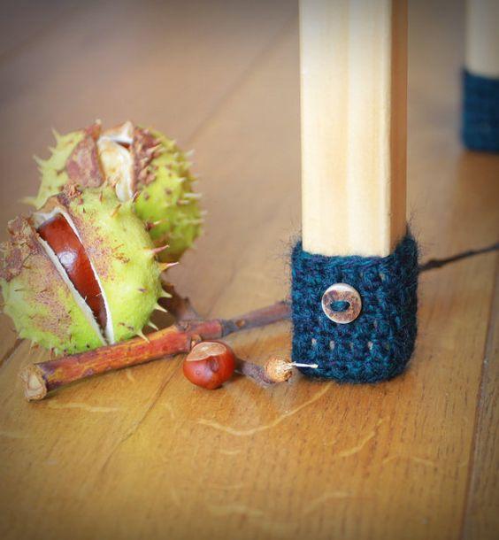 Floor protector, 8 wool chair protectors, chair leg socks, table socks, furniture accessories, home decor, Eco-friendly gift #handmade #etsyretwt