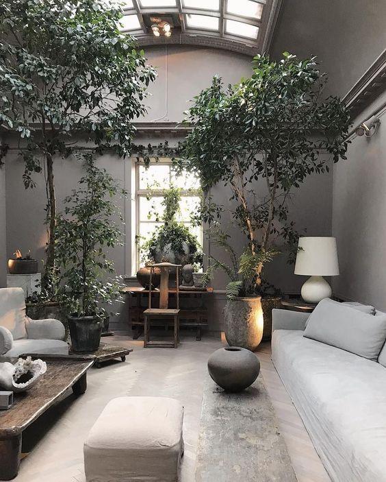 Beautiful Indoor Garden Designs For Your Healthy Home Tree Interior Tropical Interior Best Interior Design