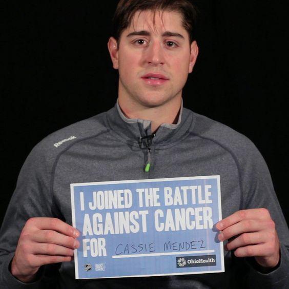 Brandon Dubinsky Cbj Cbjhfc Hockeyfightscancer Hockey Fights