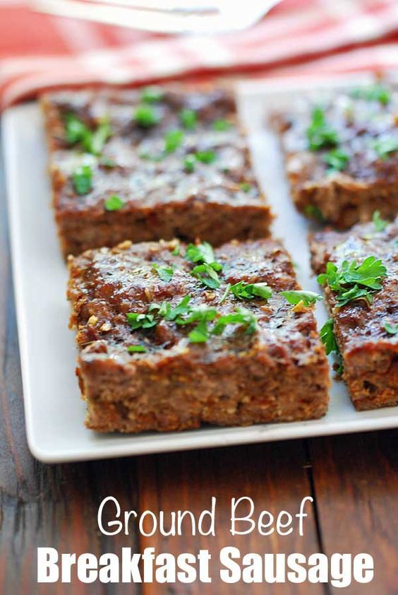 Ground Beef Breakfast Sausage Ground Beef Breakfast Ground Beef Recipes Easy Breakfast Recipes Easy