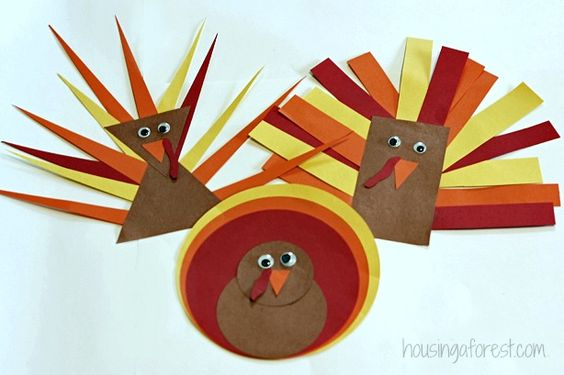 Shape turkeys fun thanksgiving themed activity for Turkey country arts and crafts